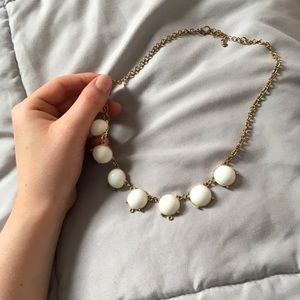 Gold and White Bauble Necklace
